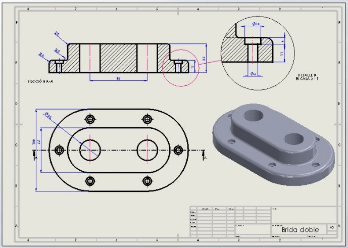 PLANO SOLIDWORKS BRIDA DOBLE